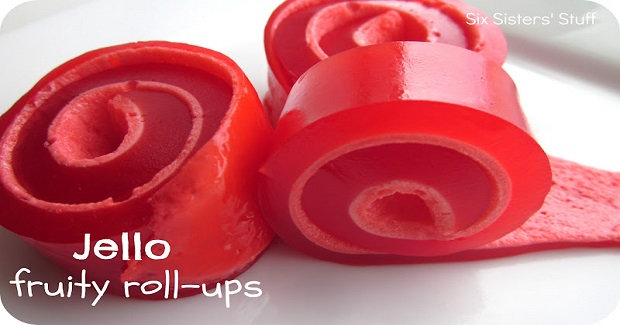 Jello Fruity Roll-Ups Recipe