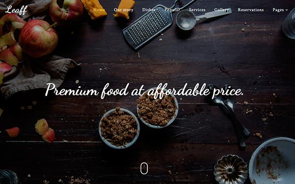 Download Leaff Premium Restaurant Theme Abcbootstrap
