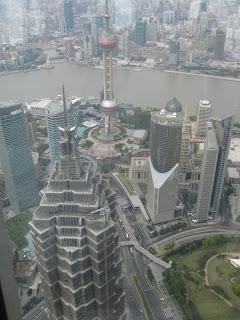 Shanghai - Pudong, Blick auf Jinmao Tower und Huangpu