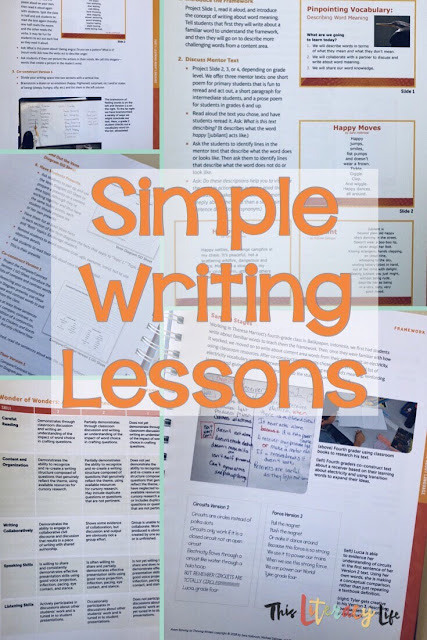 Writing instruction doesn't have to be hard for everyone. Using the ideas in the book From Striving to Thriving Writers, everyone can become a writer!