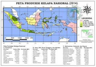 peta penghasil kelapa terbesar di indonesia