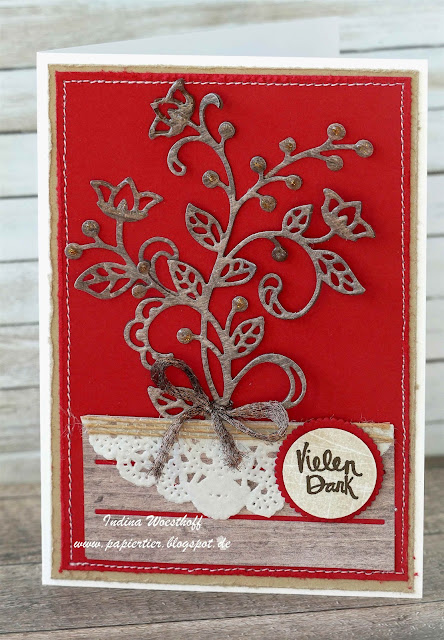Kreativkiste | papiertier Indina | Holzdekor | Stampin' Up! | Wood Words | Blütenpoesie
