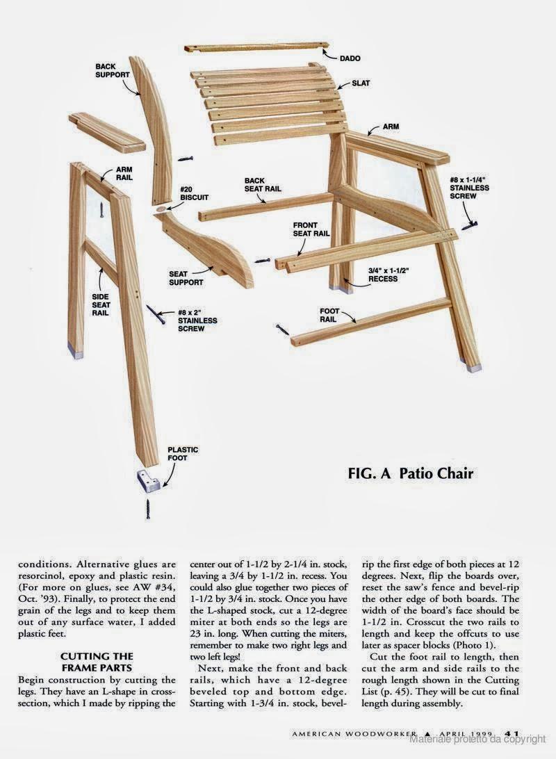 Ah! E se falando em madeira...: Projeto:Cadeira para varanda