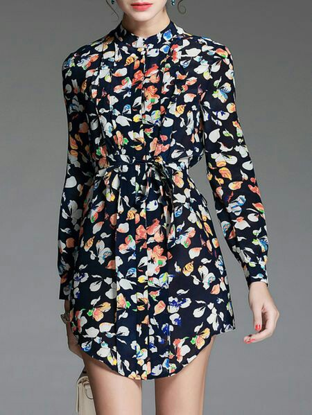 Silk midi shirt