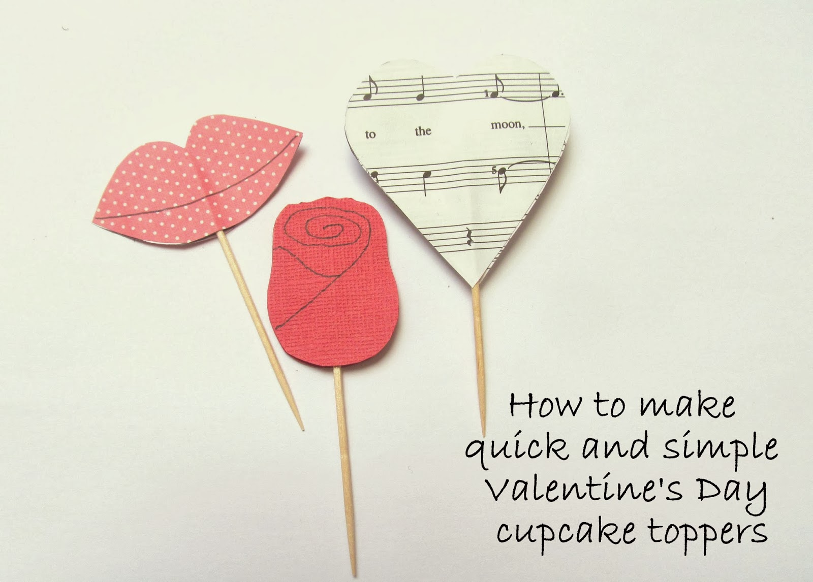 Valentine cupcake topper tutorials by Pink Flamingo Handcrafting