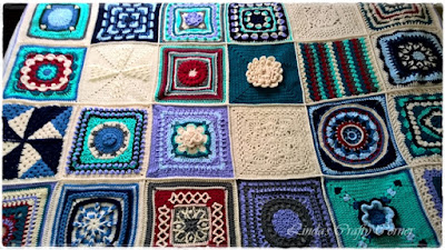 squares blocks CAL blanket afghan