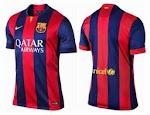 Jersey Barcelona Home terbaru untuk musim 2014/2015