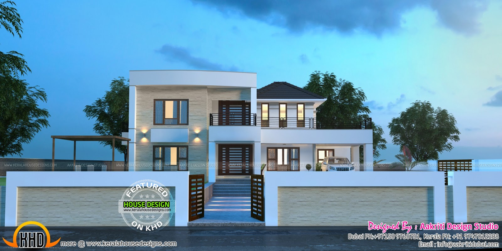 Floor Front Elevation Ymca : Majestic home design by aaakriti kerala and