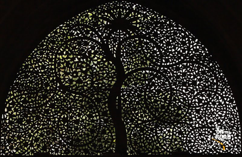 The tree of life (date palm) depicted at Siddi Syed Mosque, Ahmedabad