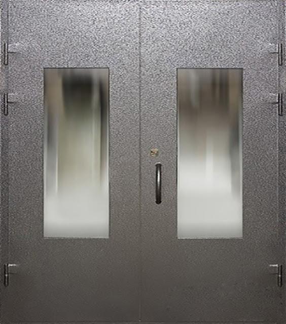cửa sắt 2 cánh đơn giản