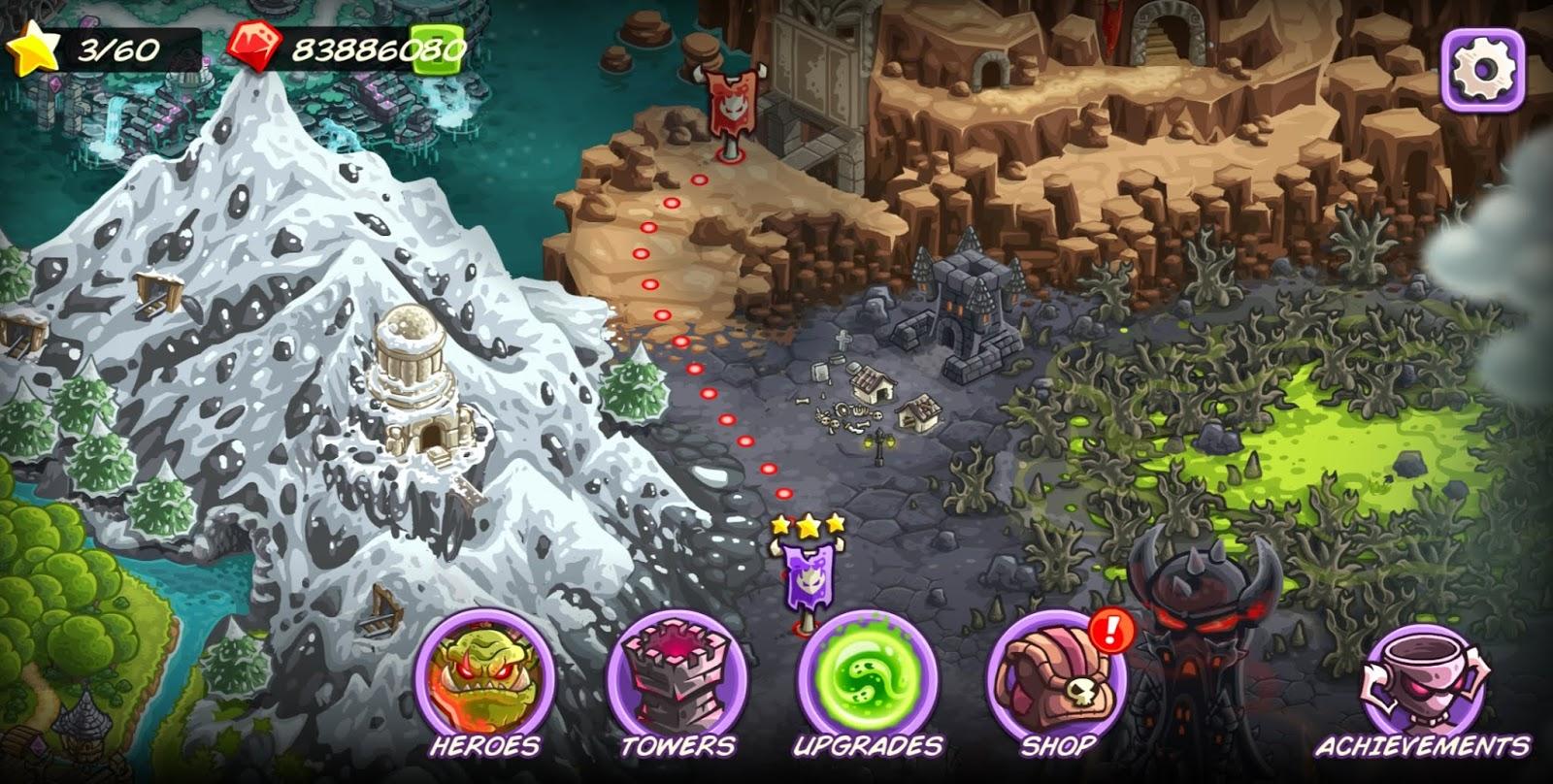 Kingdom Rush Vengeance Mega Mod Apk Data Version 1 7 2 Unlimited