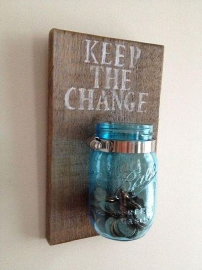 Keep the Change Jar. Foto: vinilosdecorativos