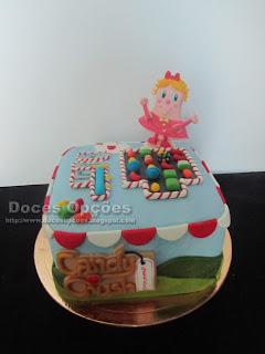 Bolo de aniversário Candy Crush