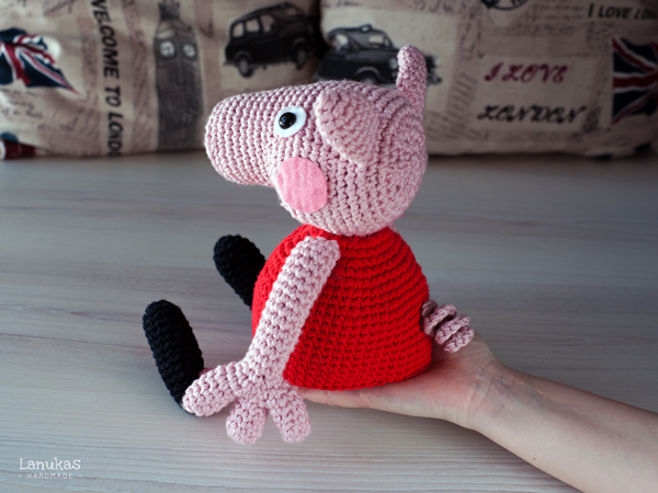 Lanukas: Peppa Pig de Amigurumi