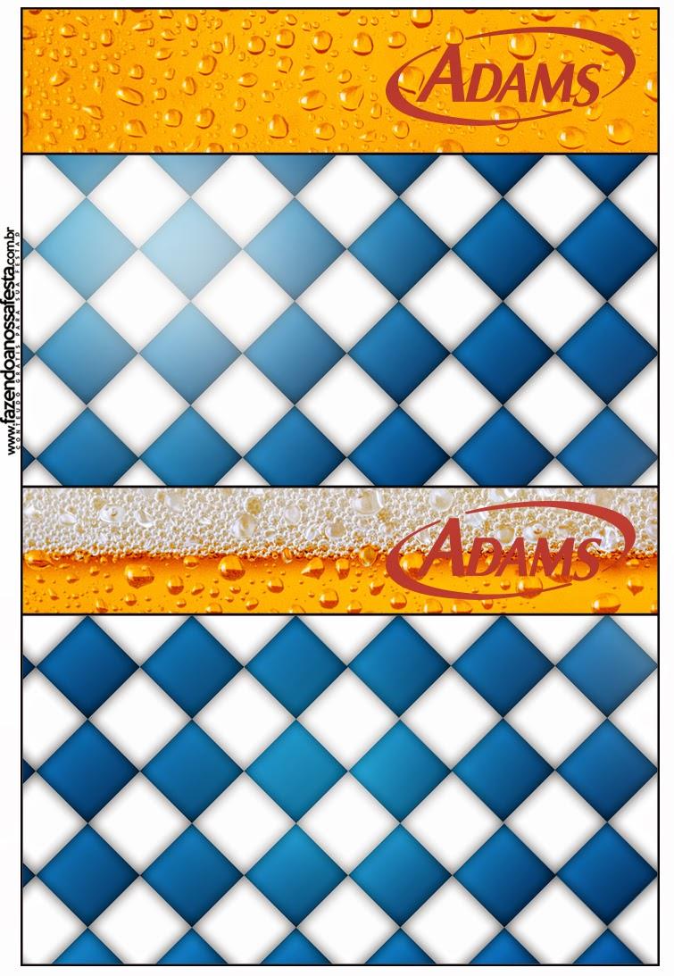 Etiquetas  chicle adams de Fiesta de la Cerveza para imprimir gratis
