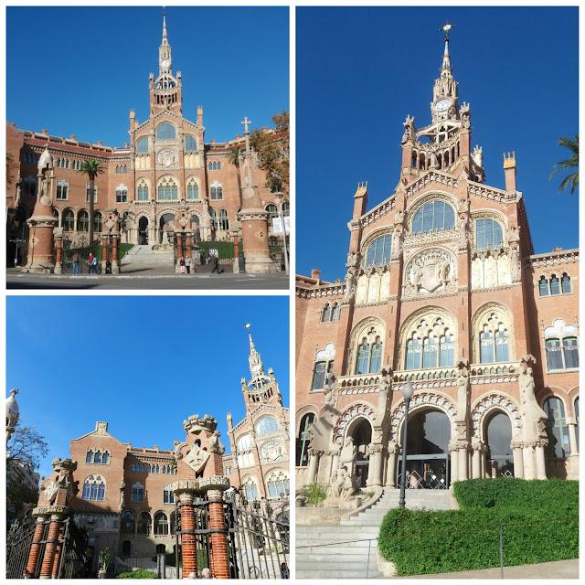 Hospital de la Santa Creu i Sant Pau em Barcelona