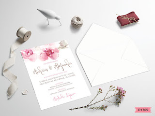 wedding invitations with romantic pink roses