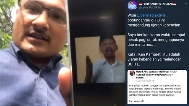 Dihajar Elit Demokrat, Abu Janda Keok dan Hapus Postingan di Facebook