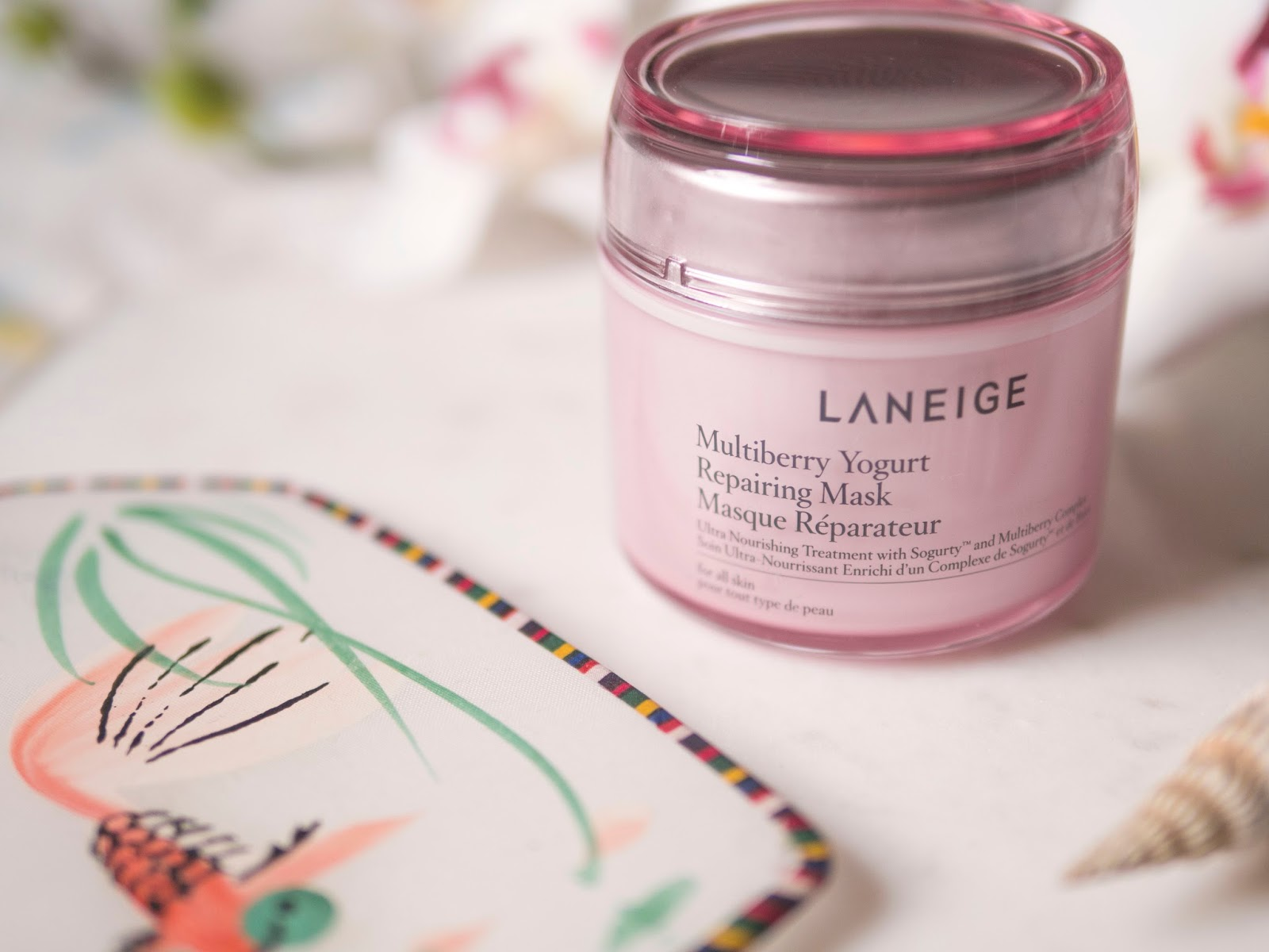 Laneige Multiberry Yogurt Repairing Mask is the Perfect Mask for Self Care Sunday
