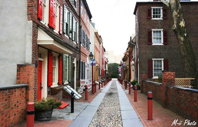 M-ii Photo : Philadelphie, Pennsylvanie - Elfreth's Alley