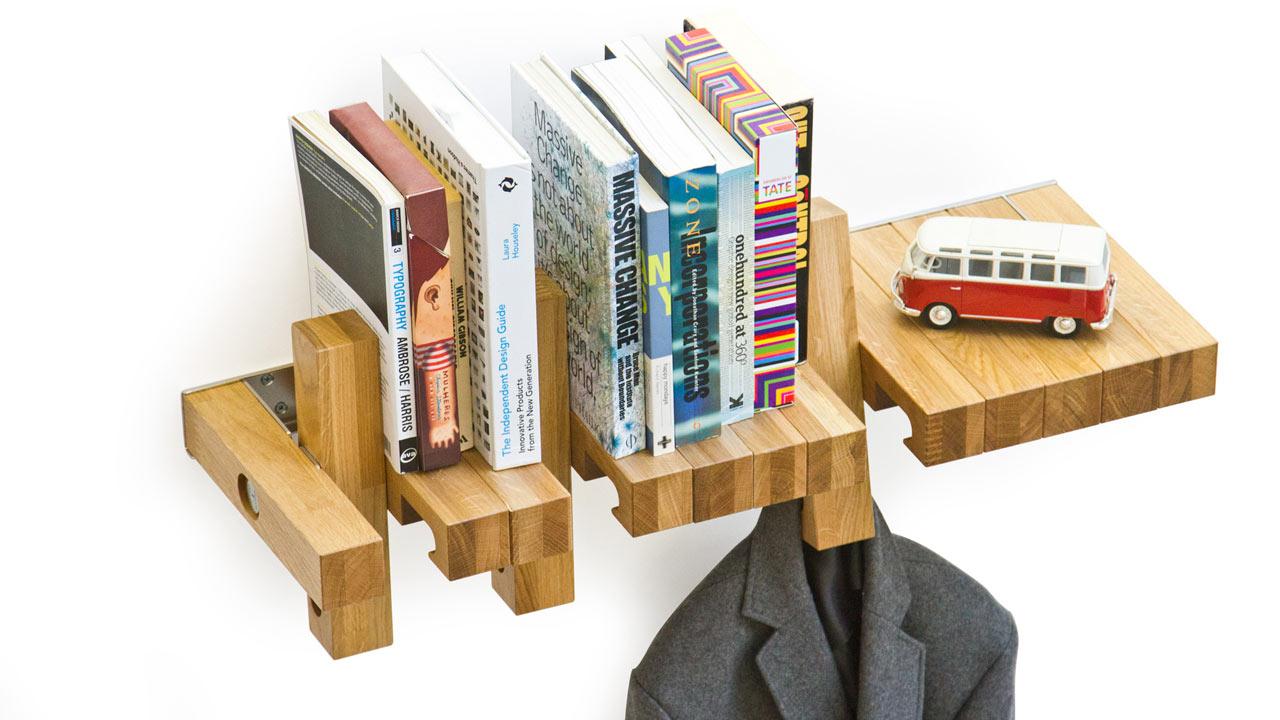 Repisa de madera para libros