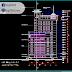 مخطط مشروع Hacinco Tower بتصميم مميز اوتوكاد dwg