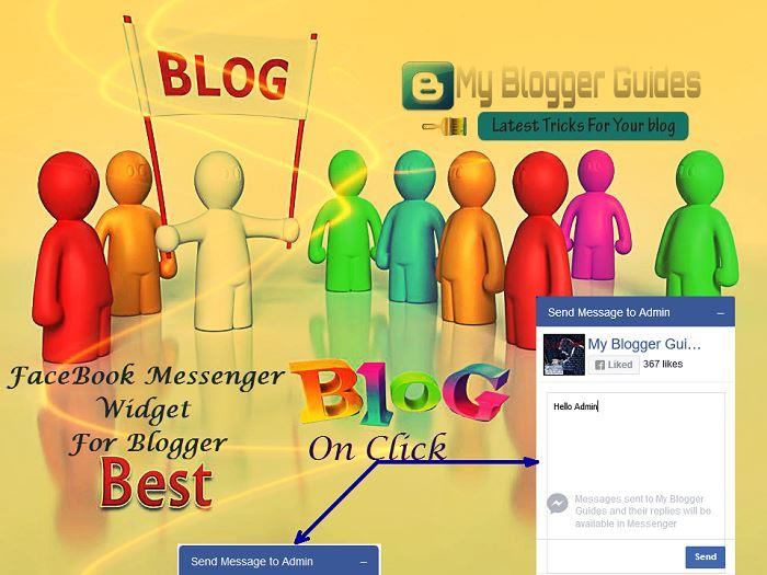 Add Facebook Messenger To Blogger Blog