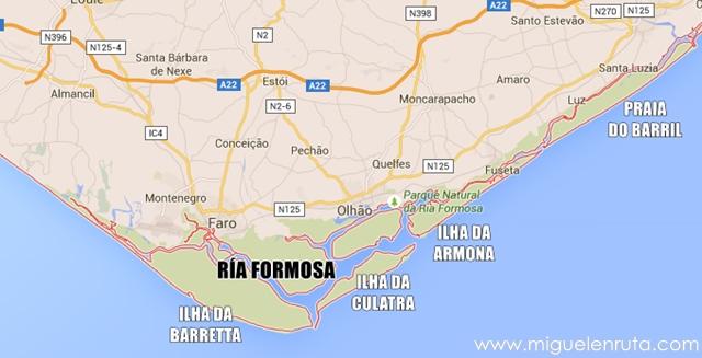 Mapa-playas-Ría-Formosa