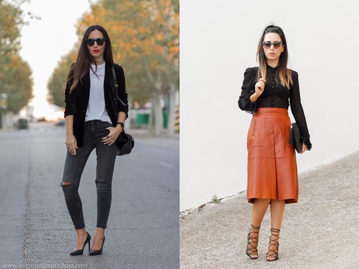 Resumen de los mejores looks streetstyle de la blogger influencer de moda de Valencia withorwithoutshoes