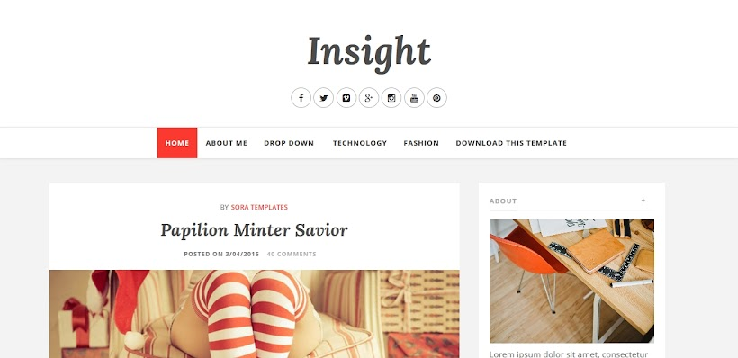 Insight Free Blogger Template