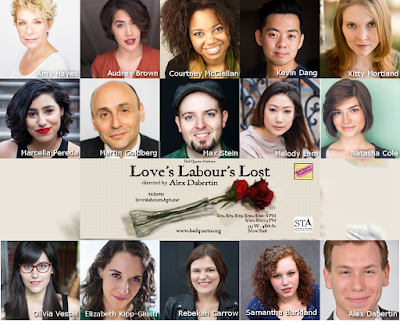 Amy Hayes, Audrey Brown, Courtney M. McClellan, Kevin Dang, Kitty Mortland, Marcella Pereda, Martin Goldberg, Max Stein, Melody Lam, Natasha Cole, Olivia Vessel, Elizabeth Kipp-Giusti, Rebekah Carrow, Samantha Burkland, and Alex Dabertin; The company of Bad Quarto Productions' upcoming Love's Labour's Lost: The First Quarto