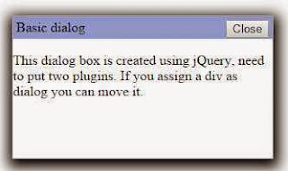 Dialog box in jQuery