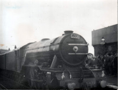 World famous steam locomotive Flying Scotsman at Barnetby station in 1968