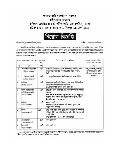 79 Jobs at Customs, Excise & VAT Commissionerate, Dhaka-West