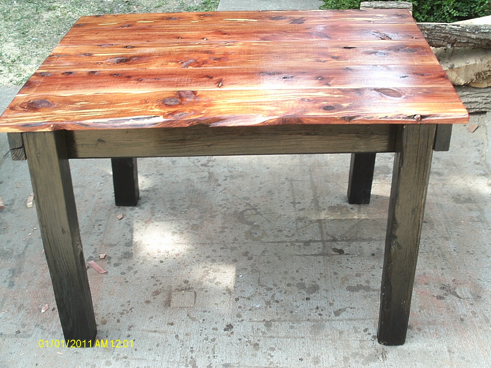 Rustic Reclaimed Barnwood Dining Nook Table