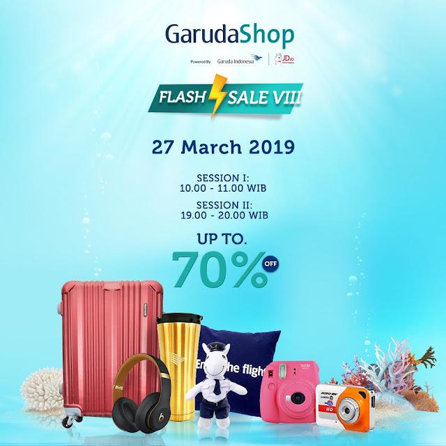 #JDID - #Promo Garuda Shop Flash Sale VIII & Diskon Hingga 70% (27 Maret 2019)
