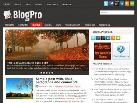 BlogPro Attractive and Multi-Purpose WordPress theme