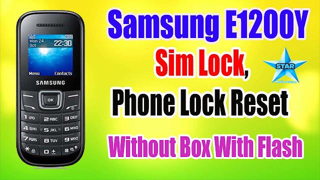 Samsung E1200Y Sim,Phone Lock Reset