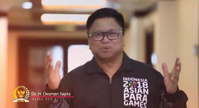 Dr. H. Oesman Sapta Ketua DPD RI
