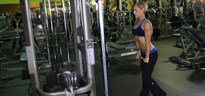 straightening arms with the upper block