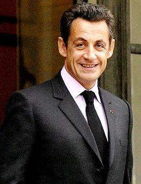 Foto de Nicolas Sarkozy sonriendo