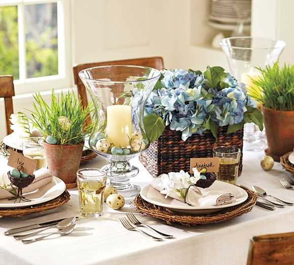 Decorating Tablescapes: Easter Decorating: Table Settings