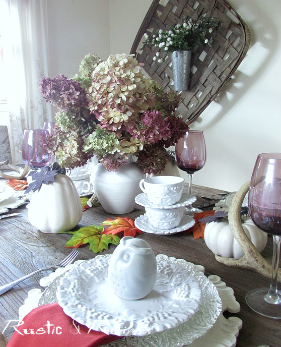 Purple Tablescape for Fall