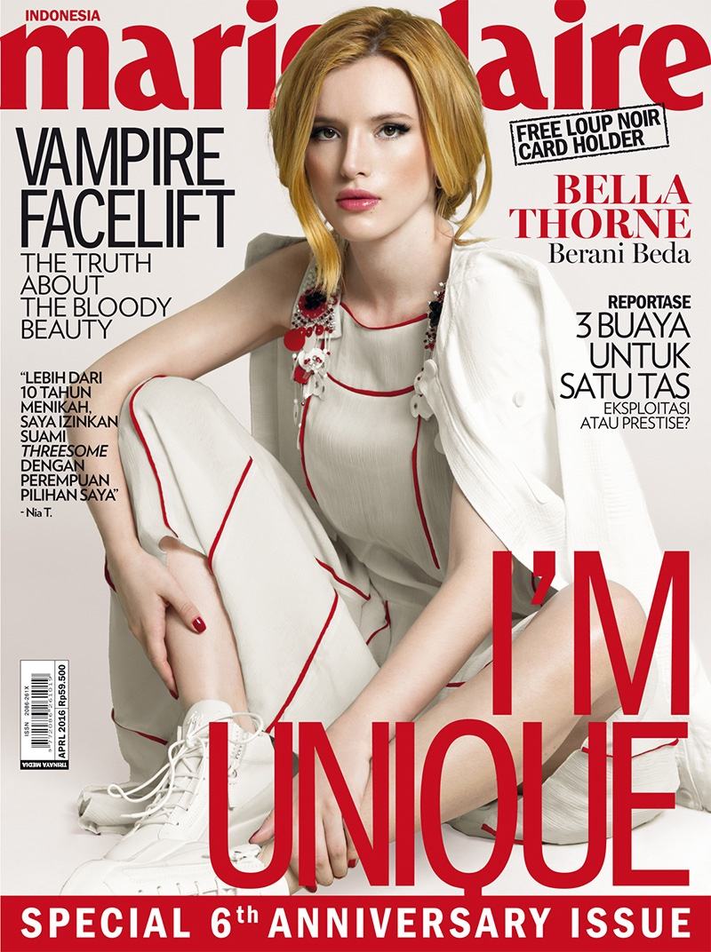 Bella Thorne goes glamorous for Marie Claire Indonesia April 2016