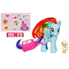 MLP Traveling Single Wave 1 Rainbow Dash Brushable Pony