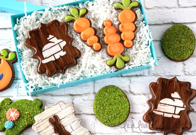 Easter Decorated Sugar Cookies -- Wood Grain Cookie Tutorial