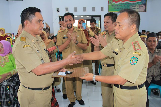 Camat Mungkajang Sertijab, Wali Kota Harap Tingkatkan Pelayanan