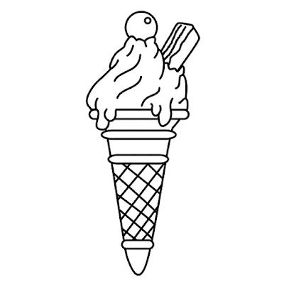 Gambar Mewarnai Ice Cream - 2