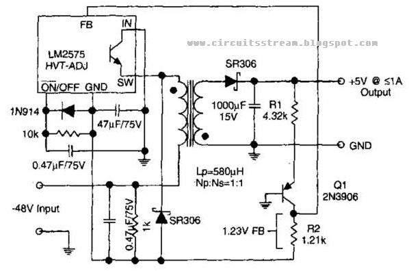 lm2575 switching regulator 1212v for solar electronic circuit