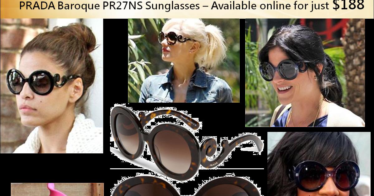 7f5f4112b6b3e Prada PR27NS Baroque Sunglasses -  188